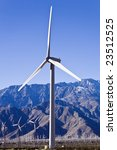 Wind Turbine Stands Among...