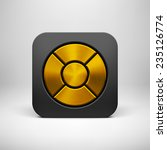 black abstract app icon  button ...
