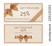 gift voucher template with... | Shutterstock .eps vector #235135201