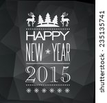 vector  christmas light... | Shutterstock .eps vector #235135741