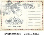 backdrop of postal card for... | Shutterstock .eps vector #235135861