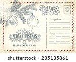 backdrop of postal card for... | Shutterstock .eps vector #235135861