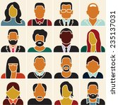 business people icons. people...
