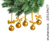 christmas card with golden... | Shutterstock . vector #235139677