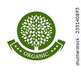 Green Circle Tree  Vector Logo...