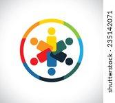 social network community... | Shutterstock .eps vector #235142071