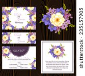 wedding invitation cards with... | Shutterstock .eps vector #235157905