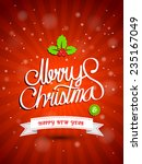 christmas greeting card. merry...   Shutterstock .eps vector #235167049