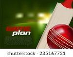 cricket ball and bat | Shutterstock .eps vector #235167721