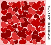 seamless pattern with hearts | Shutterstock .eps vector #23517748
