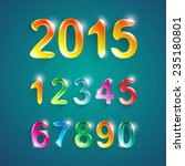alphabet numbers crystal colors ... | Shutterstock .eps vector #235180801