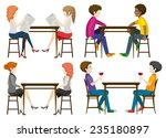 faceless people at the table on ... | Shutterstock .eps vector #235180897