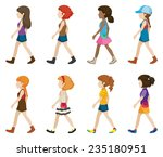 teenagers without faces walking