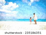 in summer vacation mother and... | Shutterstock . vector #235186351