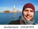 young man in new york  in... | Shutterstock . vector #235187095