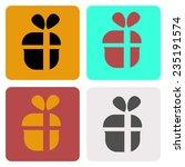 flat gift icon
