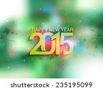 happy new year 2015 background | Shutterstock .eps vector #235195099