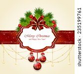 decorative card with christmas... | Shutterstock .eps vector #235199761