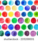 vector watercolor circles... | Shutterstock .eps vector #235200031