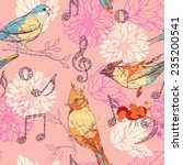 Seamless Pattern With Birds ...