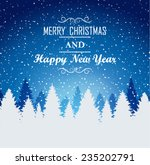 christmas background | Shutterstock .eps vector #235202791