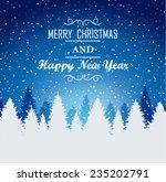 christmas background | Shutterstock .eps vector #235202791