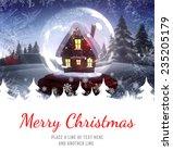 merry christmas against... | Shutterstock . vector #235205179