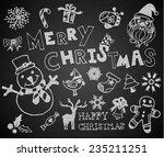 christmas on the chalkboard | Shutterstock .eps vector #235211251