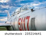 close up of a russian fighter... | Shutterstock . vector #235214641
