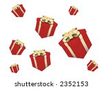 red presents and gift over white | Shutterstock . vector #2352153
