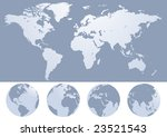 world map silhouette... | Shutterstock . vector #23521543