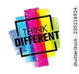 think different. creative brush ... | Shutterstock .eps vector #235216924