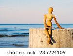Figurine Of Wooden Woman...
