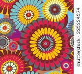 seamless pattern of decorative... | Shutterstock .eps vector #235224574