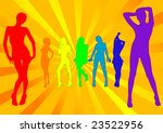 colorful group of posing models ... | Shutterstock . vector #23522956