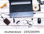 computer peripherals   laptop... | Shutterstock . vector #235230394
