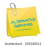 alternative therapies post memo ... | Shutterstock .eps vector #235230511