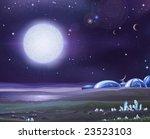 alien base on a dark lifeless... | Shutterstock .eps vector #23523103
