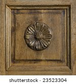 Carved Wood Panel With Floral...