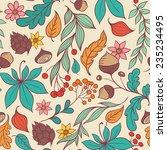 autumn vector seamless pattern... | Shutterstock .eps vector #235234495