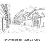 illustration of street in st....   Shutterstock .eps vector #235237291