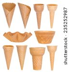 ice cream cones collection... | Shutterstock . vector #235252987
