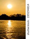 sunset on the river | Shutterstock . vector #235254814