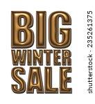 big winter sale text in gold...   Shutterstock . vector #235261375