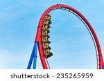 roller coaster in funny... | Shutterstock . vector #235265959