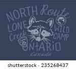 raccoon wild camp  vector... | Shutterstock .eps vector #235268437