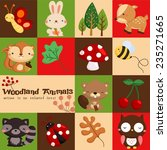 square woodland card | Shutterstock .eps vector #235271665