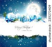christmas night   greeting card ... | Shutterstock .eps vector #235272409