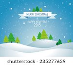 christmas landscape background... | Shutterstock .eps vector #235277629