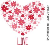 heart of love flowers | Shutterstock .eps vector #235294684